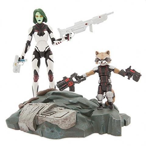 Gamora with Rocket Raccoon