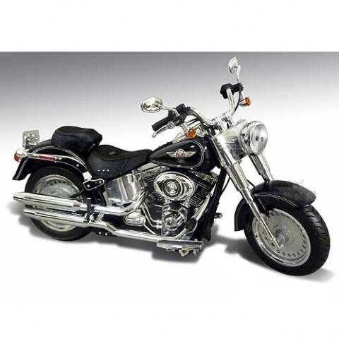 Harley Davidson 2012 HD FLSTF Fat Boy Vivid Black 1/12