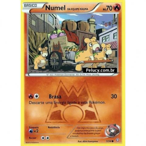01/34 - Numel - Pokémon Fogo Comum