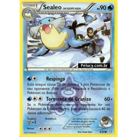 04/34 - Sealeo - Pokémon Água Comum