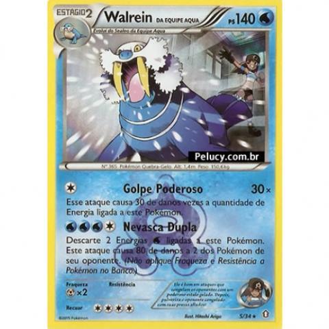 05/34 - Walrein - Pokémon Água Raro -FOIL